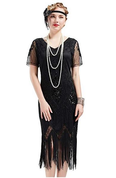 20er Jahre Kleid & Charleston Kleid Kostüm für Damen