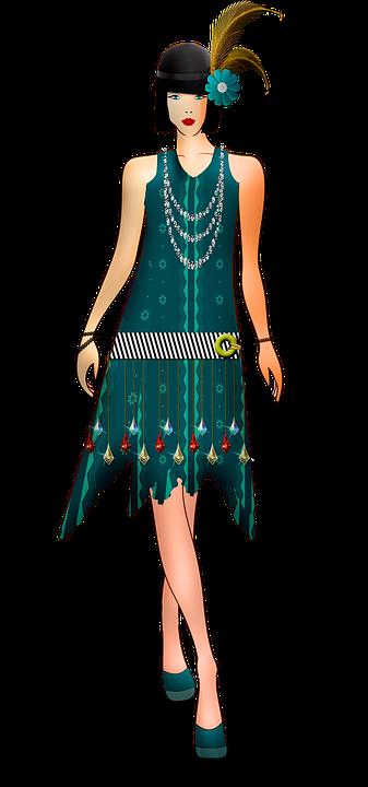 20er Jahre Kleid Flapper Mode für Damen
